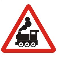 """Знак дорожный 1.2. """"Железнодорожный переезд без шлагбаума""""."""