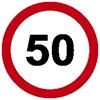 """Знак дорожный 3.24. """"Ограничение максимальной скорости"""""""