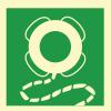 Знак ИМО 2.8 Спасательный круг с линем