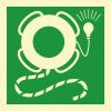 Знак ИМО 2.8.1 Спасательный круг  с линем и огнем