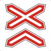 """Знак дорожный 1.3.2. """"Многопутная железная дорога"""""""