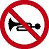 """Знак дорожный 3.26. """"Подача звукового сигнала запрещена"""""""