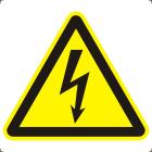 Знак W08 Опасность поражения электрическим током