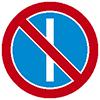 """Знак дорожный 3.29. """"Стоянка запрещена по нечетным числам месяца"""""""