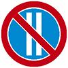 """Знак дорожный 3.30. """"Стоянка запрещена по четным числам месяца"""""""