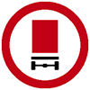"""Знак дорожный 3.32. """"Движение транспортных средств с опасными грузами запрещено"""""""