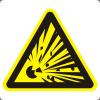Знак W02 Взрывоопасно