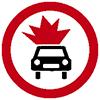 """Знак дорожный 3.33. """"Движение транспортных средств с взрывчатыми и легковоспламеняющимися грузами запрещено"""""""