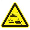 Знак W04 Опасно. Едкие и коррозионные вещества