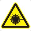Знак W10 Опасно. Лазерное излучение