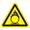 Знак W11 Пожароопасно. Окислитель