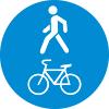 """Знак дорожный 4.5.2. """"Пешеходная и велосипедная дорожка с совмещенным движением"""""""
