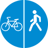 """Знак дорожный 4.5.4 """"Пешеходная и велосипедная дорожка с разделением движения"""""""