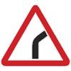 """Знак дорожный 1.11.1. """"Опасный поворот"""""""