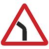 """Знак дорожный 1.11.2. """"Опасный поворот"""""""