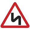 """Знак дорожный 1.12.2. """"Опасные повороты"""""""