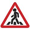 """Знак дорожный 1.22. """"Пешеходный переход"""""""