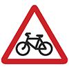 """Знак дорожный 1.24. """"Пересечение с велосипедной дорожкой или велопешеходной дорожкой""""."""