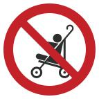 """Знак """"Пользоваться складными колясками запрещено"""""""