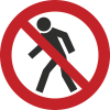 Знак P03 Проход запрещен