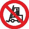 Знак P07 Запрещается движение средств напольного транспорта