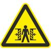 Знак W23 Опасность зажима