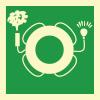 Знак ИМО 2.10 Спасательный круг с огнем и дымовой шашкой