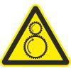 Знак W29 Возможно затягивание между вращающимися валами