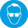 Знак M01 Работать в защитных очках