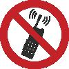 Знак P18 Запрещается пользоваться мобильным (сотовым) телефоном или переносной рацией