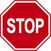 """Знак дорожный 2.5. """"Движение без остановки запрещено"""""""