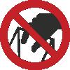 Знак P33 Запрещается брать руками. Сыпучая масса (непрочная упаковка)