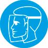 Знак M08 Работать в защитном щитке