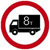 """Знак дорожный 3.4. """"Движение грузовых автомобилей запрещено"""""""