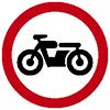 """Знак дорожный 3.5. """"Движение мотоциклов запрещено"""""""