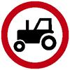 """Знак дорожный 3.6. """"Движение тракторов запрещено"""""""
