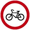 """Знак дорожный 3.9. """"Движение на велосипедах запрещено"""""""