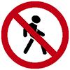 """Знак дорожный 3.10. """"Движение пешеходов запрещено"""""""