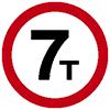 """Знак дорожный 3.11. """"Ограничение массы"""""""