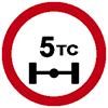 """Знак дорожный 3.12. """"Ограничение массы, приходящейся на ось транспортного средства"""""""
