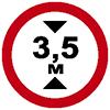 """Знак дорожный 3.13. """"Ограничение высоты"""""""